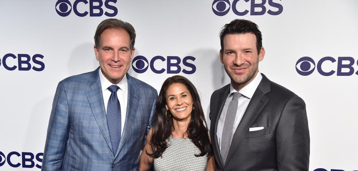 Jim Nantz, Tracy Wolfson, Tony Romo