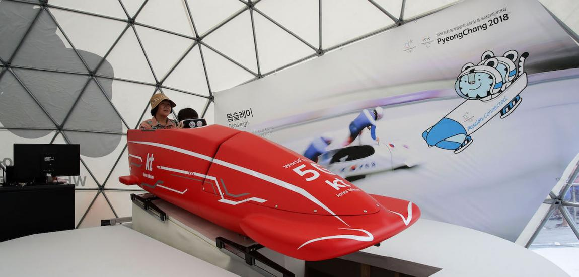 PyeongChang Winter Olympics Bobsled Demo