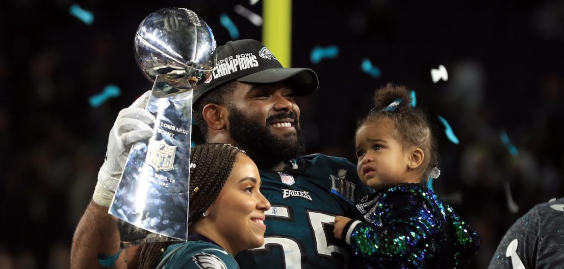 Brandon Graham At Super Bowl LII
