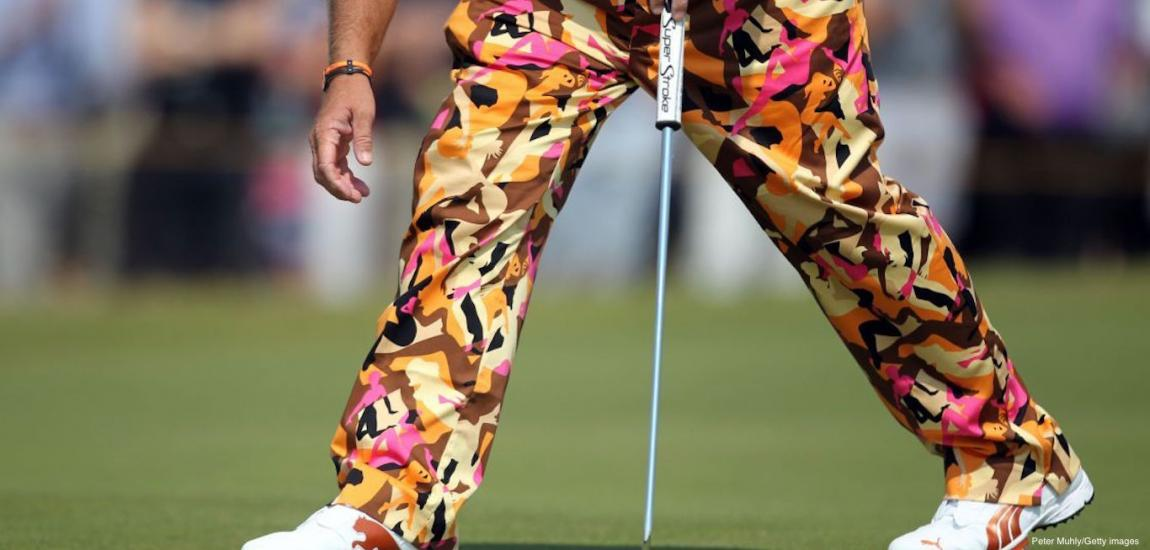 Daly Models Loudmouth Pants on the Course