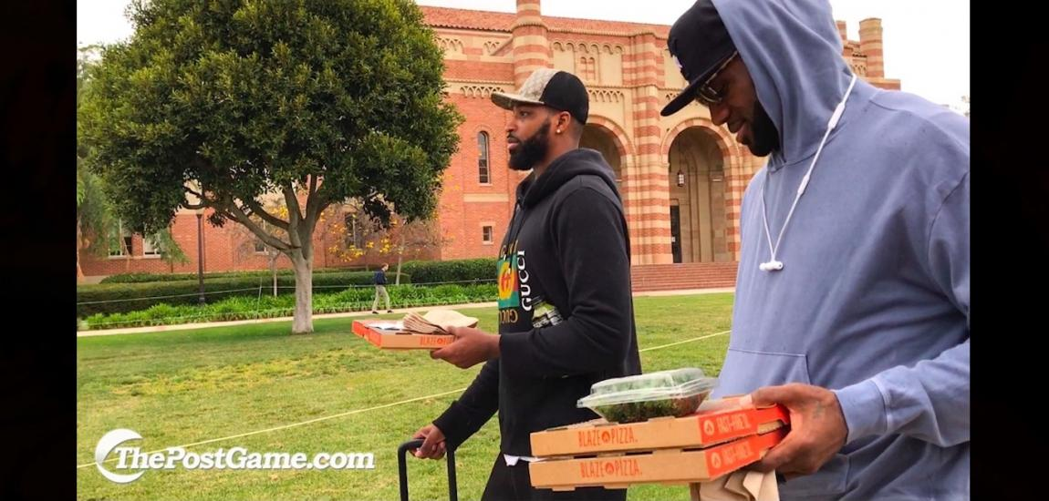 LeBron James With Blaze Pizza