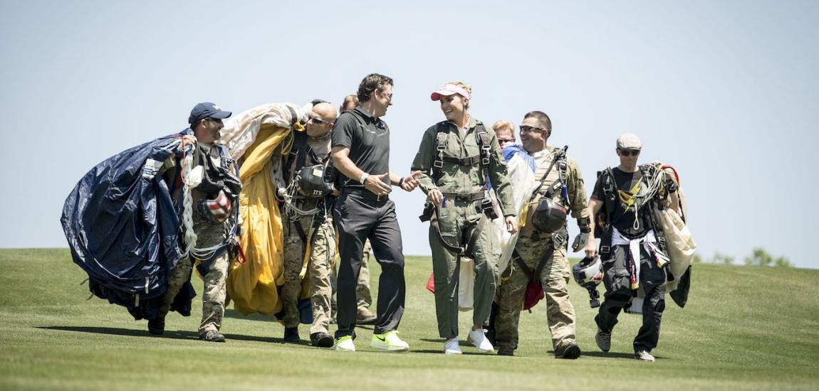 Lexi Thompson With Navy SEALs