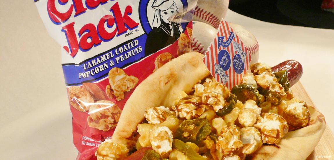 Cracker Jack Mac Cheese Dog