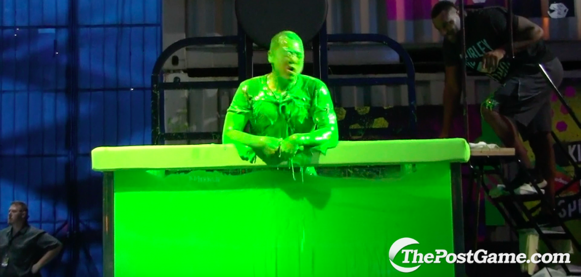Victor Chi, Nickelodeon Slime Dunk Tank