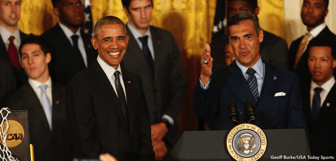 Jay Wright's Wildcats Visit Obama