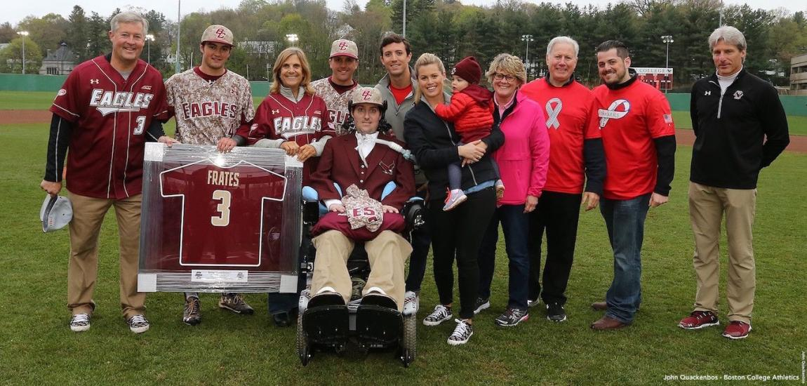 Pete Frates Gets Jersey Retired At Boston College