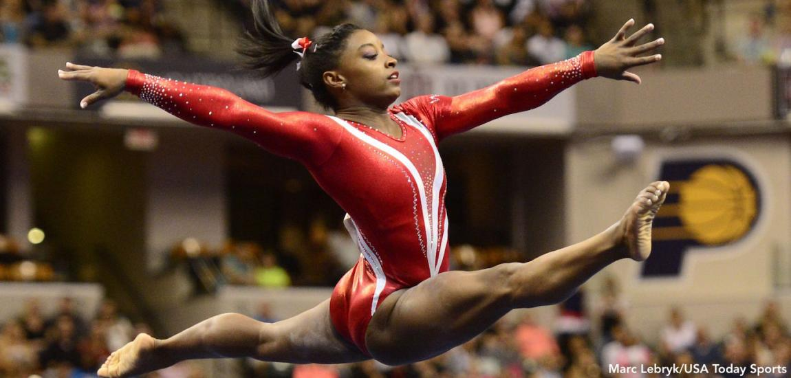 Biles, Kardashian Exchange Tweets