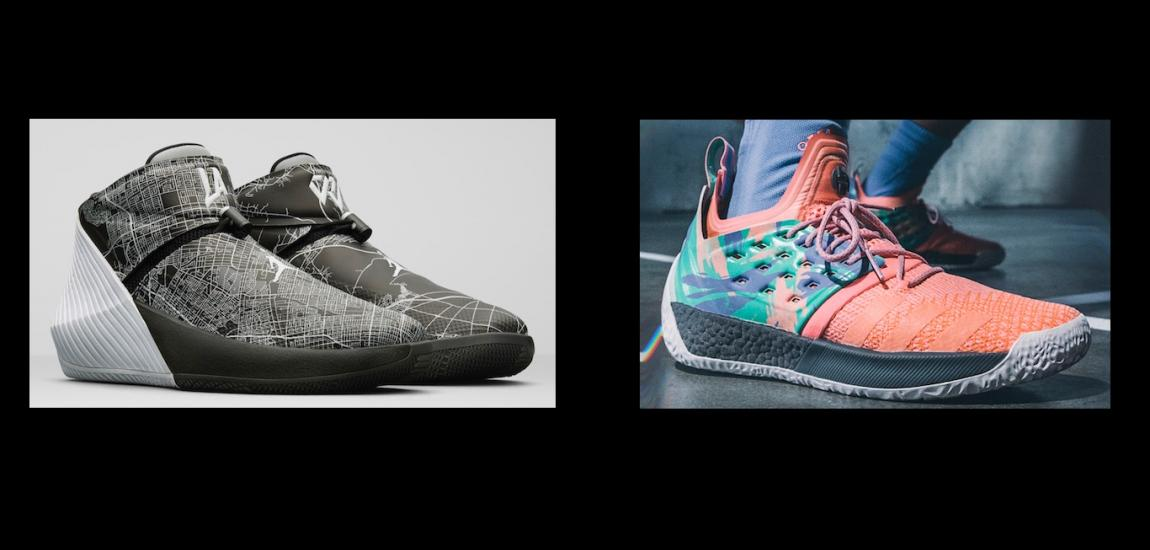 Signature Shoes Of Russell Westbrook, James Harden