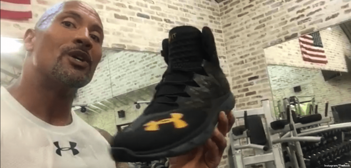 'The Rock' Shows Off Shoes