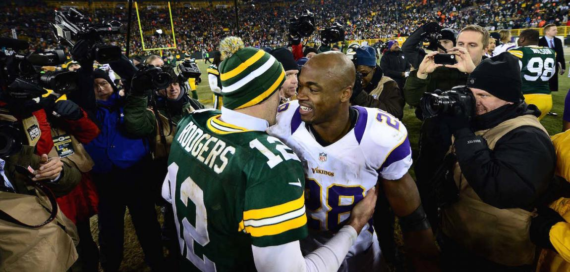 Aaron Rodgers and Adrian Peterson