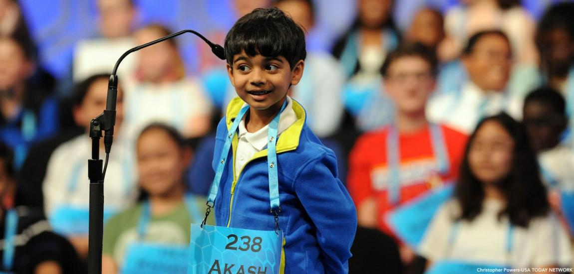 Akash Vukoti At Spelling Bee