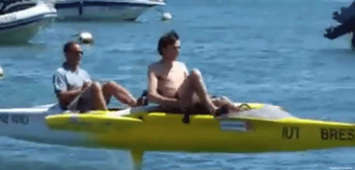 Sailors Recline While Cycling in Hands-Free Boat