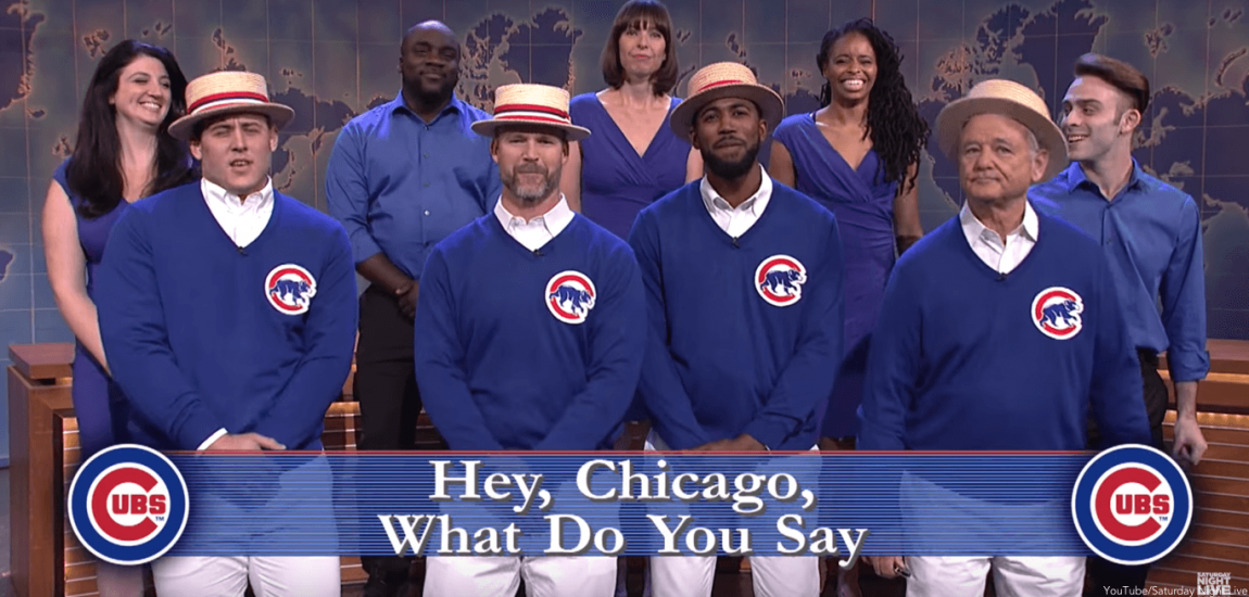 Anthony Rizzo, David Ross, Dexter Fowler, Bill Murray, Chicago Cubs