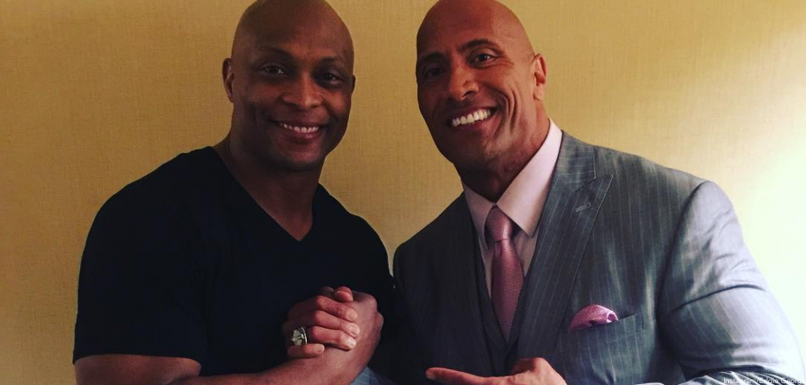 Eddie George, Dwayne 'The Rock' Johnson