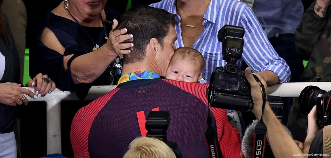 Michael and Boomer Phelps