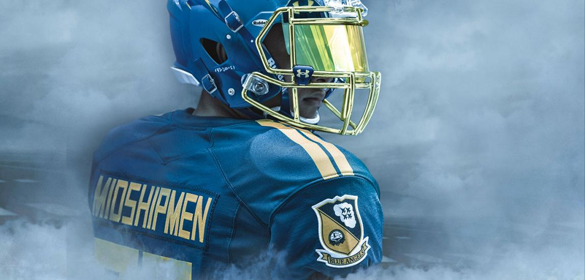 Navy Blue Angels Football Uniforms By Under Armour