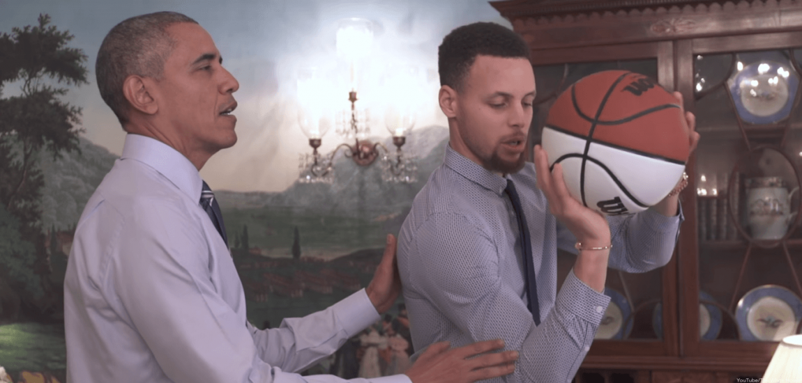 Barack Obama, Stephen Curry