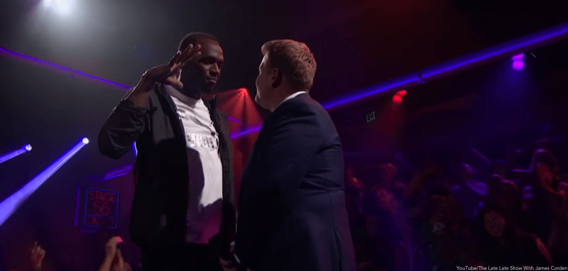 Usain Bolt, James Corden